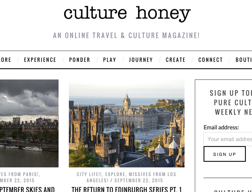 CultureHoney.com!