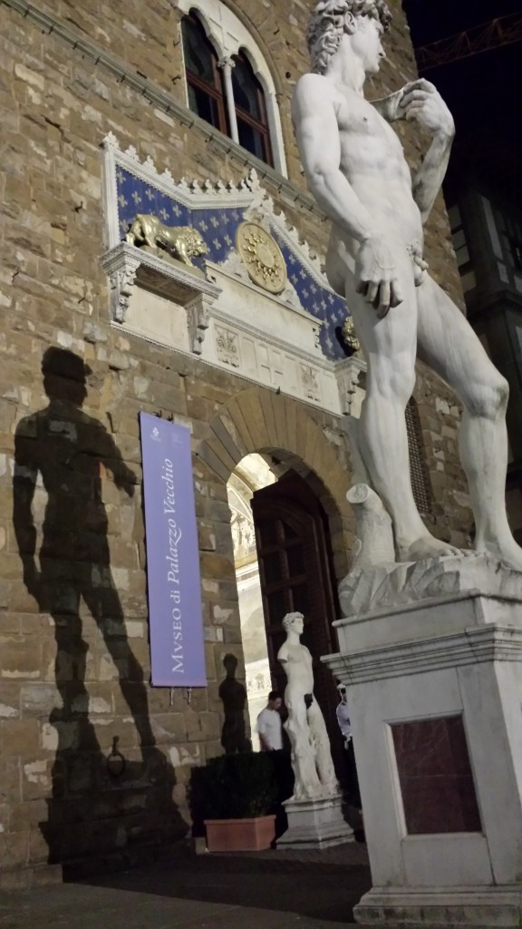 Statue of David Sees His Shadow and Other Florence Snaps : )  9.9.14