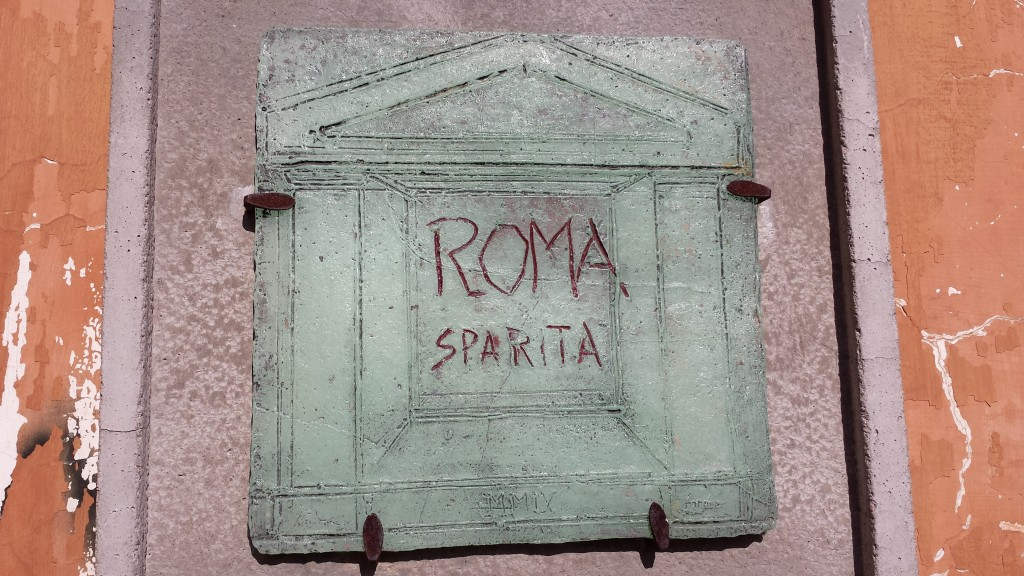 Here's the name (bom bom bom), Roma Spirita, yes, I put it here for the spiders...