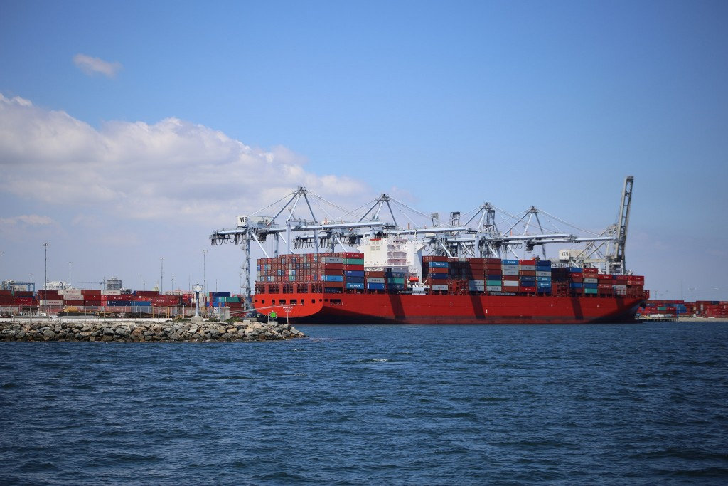 Over 1/2 the freight coming into and out of the U.S. comes thru the Long Beach & L.A. Harbors!