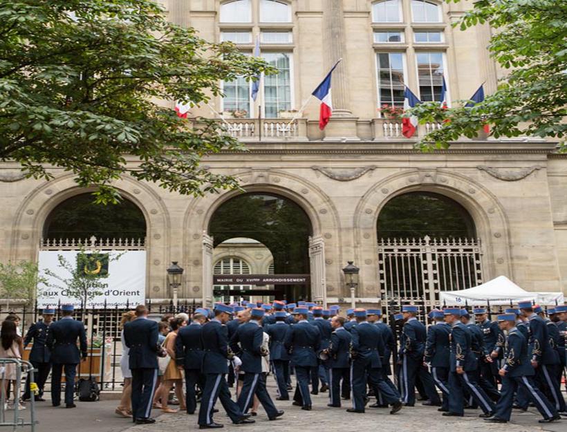 2015 Fête National de la France 14 juillet,Mairie du (city Hall) 16`emè arrondissement