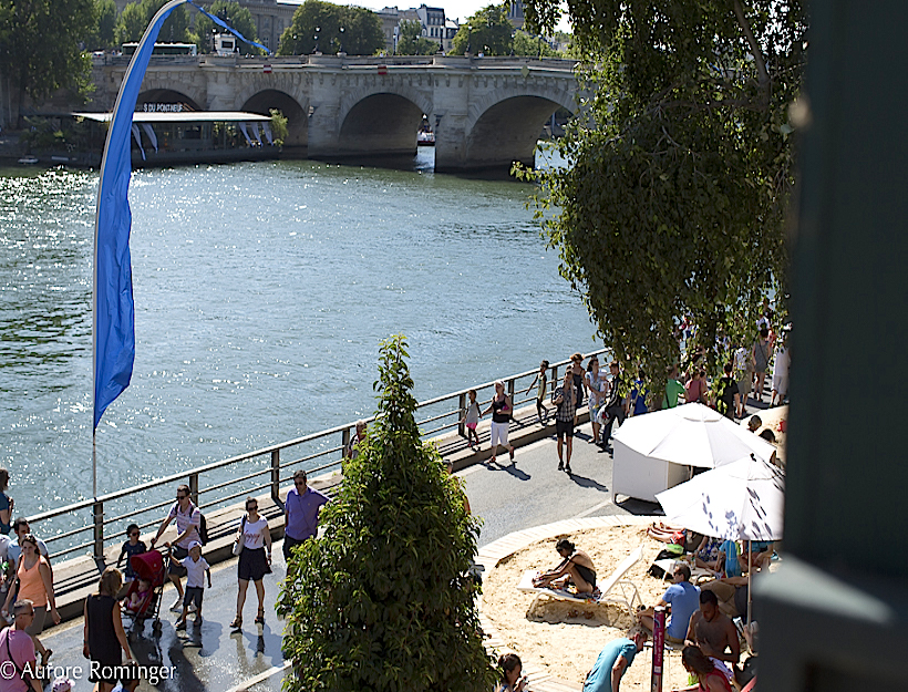 2015. August in Paris, vacant neighbourhoods, and Paris Plages