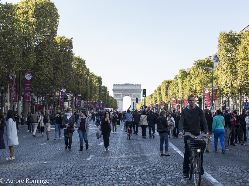 Champs-Elysées September: Mairie de Paris Supports Car Free Day, and Fashion Week