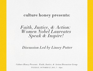 Recap – Faith, Justice & Action: Women Nobel Laureates Speak & Inspire