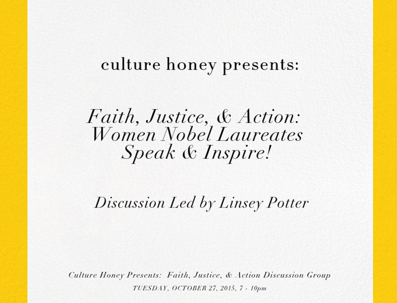 Culture Honey Presents: Faith, Justice, & Action Discussion Group