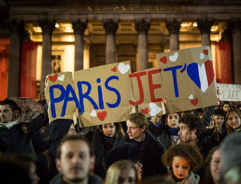 With Signs Saying 'Paris, Je T'aime'