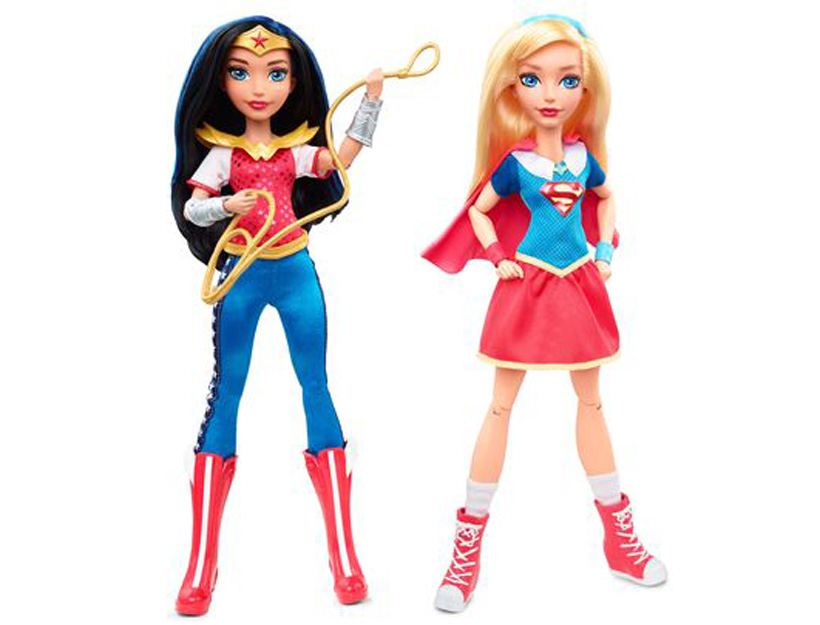 Wonder Woman and Supergirl appear in the Super Hero Girls _action doll_ line from Mattel. (Photo- DC Entertainment)