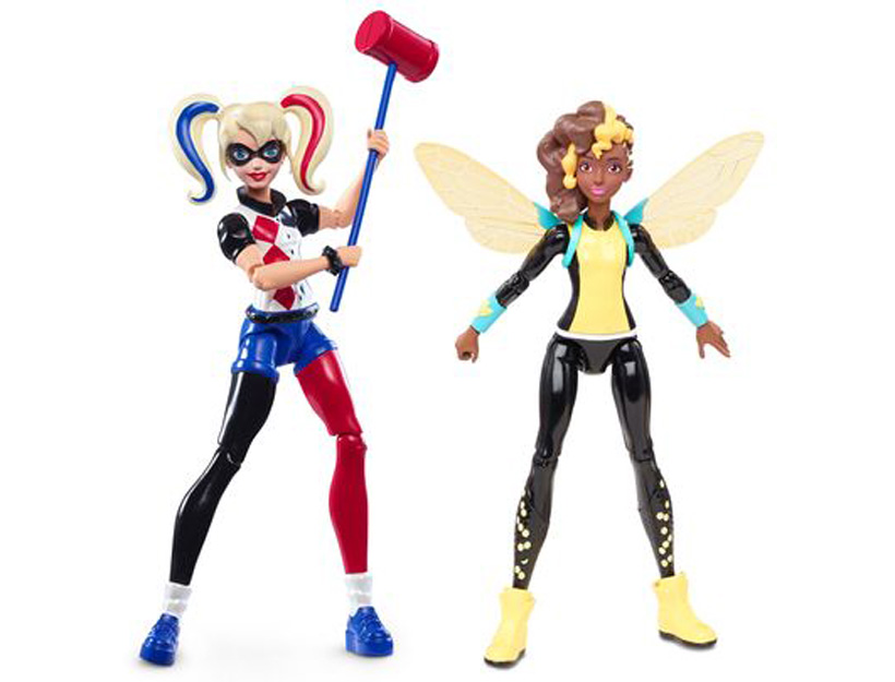 The 6-inch Super Hero Girls action-figure line includes Harley Quinn and Bumblebee. (Photo- DC Entertainment)