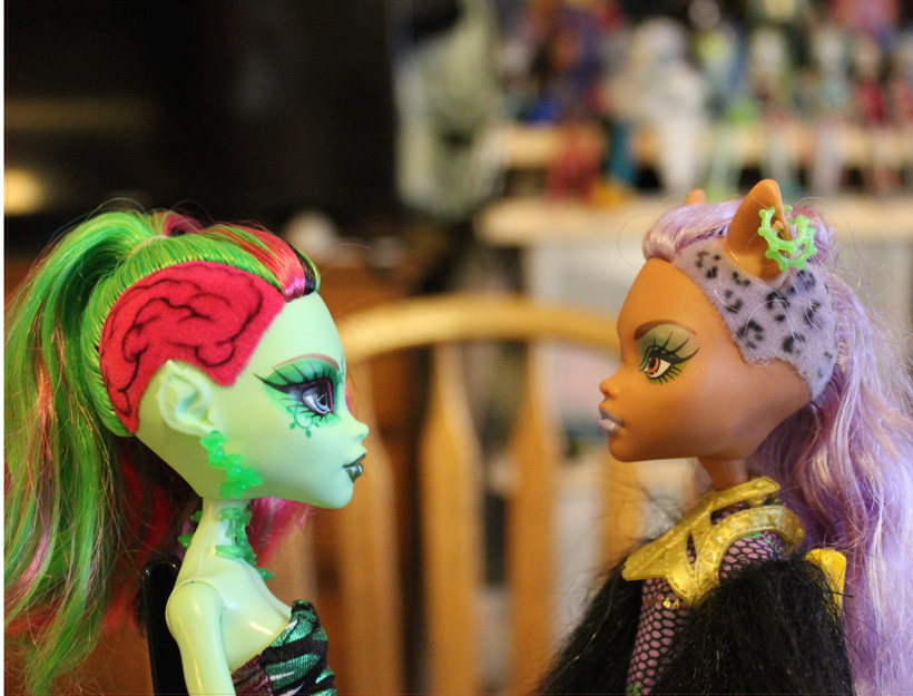 Venus McFlytrap and Clawdeen Wolf, Monster High