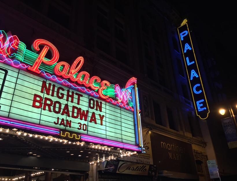 Night on Broadway, Los Angeles, CA Jan. 2016