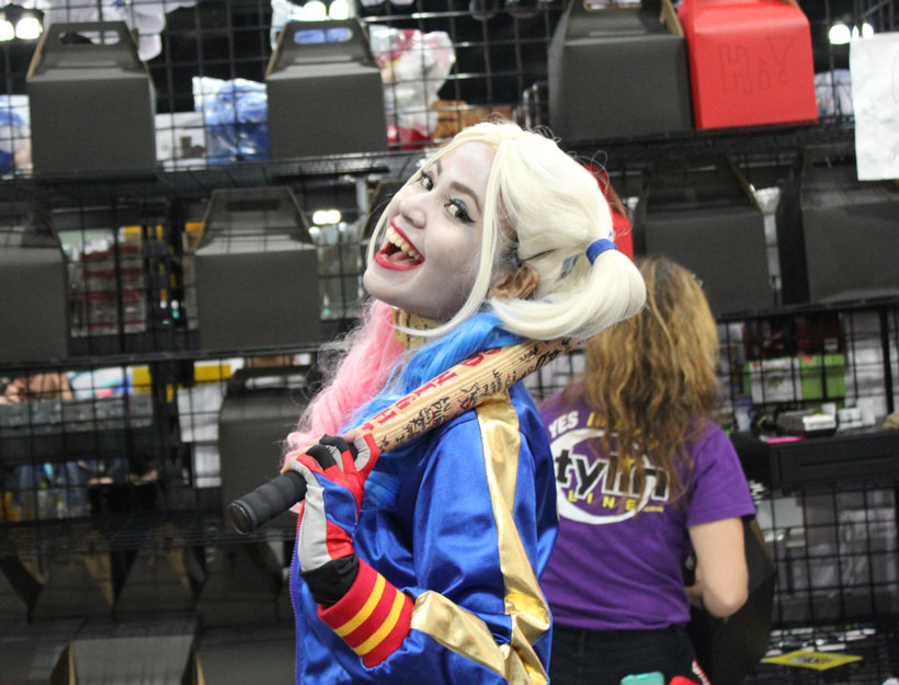 Wondercon 2016, L.A. Suicide Squad Harley Quinn cosplay