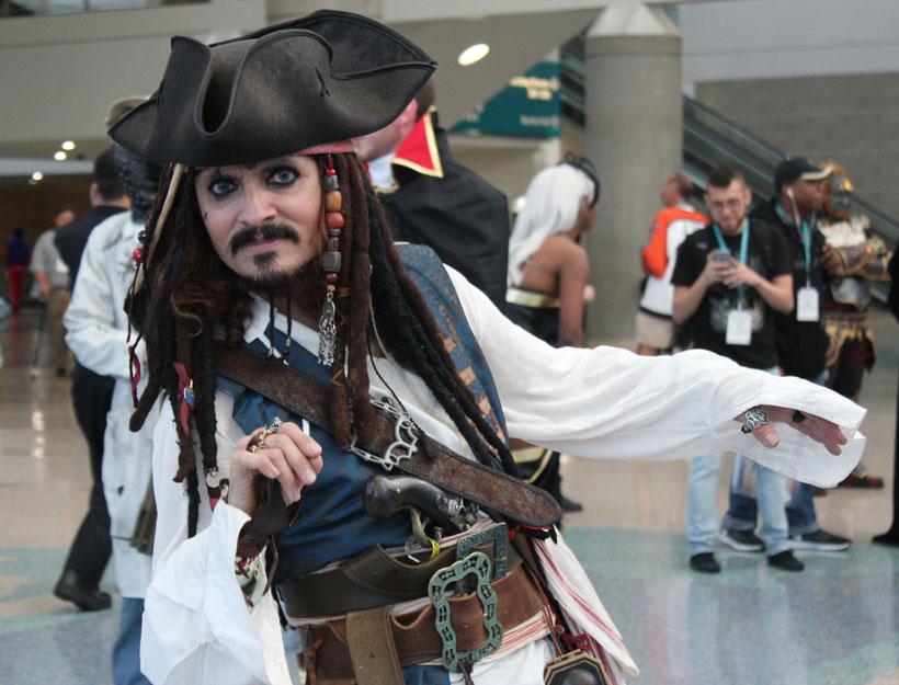 Wondercon 2016, L.A. Jack Sparrow cosplay
