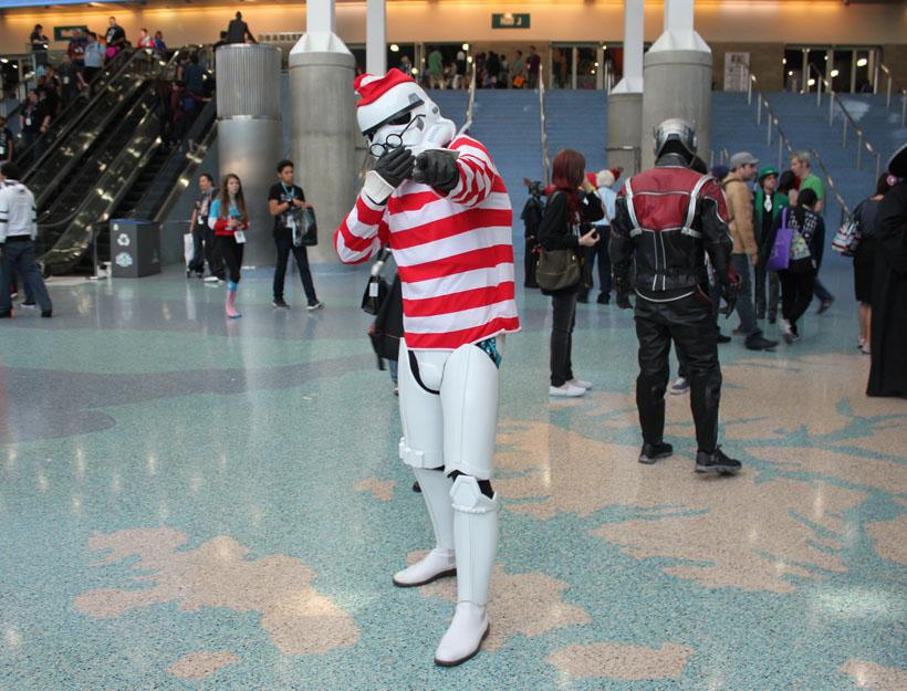 Wondercon 2016, L.A. Where's Waldo Star Wars clone cosplay