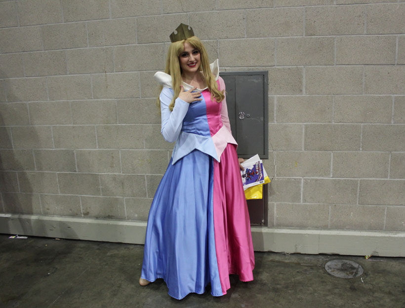 WonderCon Los Angeles 2016 Sleeping Beauty dress cosplay