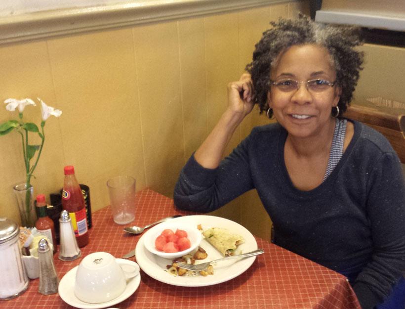 Laurene Hynson, owner of Sweet Maple Cafe