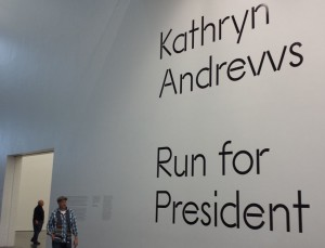 Museum of Contemporary Art, Chicago – Kathryn Andrews:  Run for President!