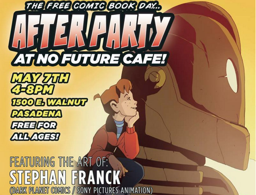 Free Comic Book Day After Party at No Future Cafe, Pasadena, CA
