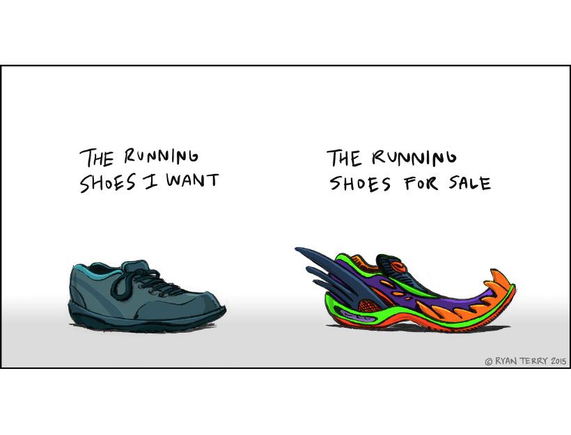 Ryan Terry's Web Comics! Running Shoes!