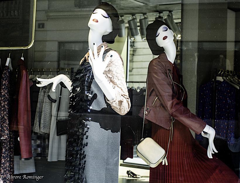Paris Passy, New Fall Fashion in the Wndows