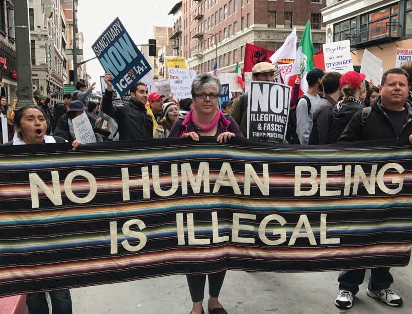 Free the People Immigration March, Pershing Square, Los Angeles, CA - 2.18.17