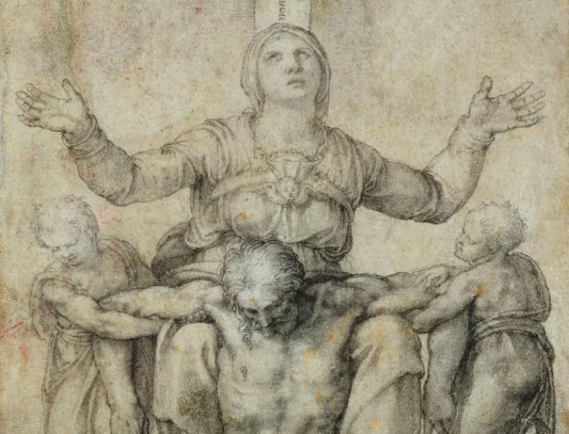 Pieta for Vittoria Colonna by Michelangelo Buonarroti