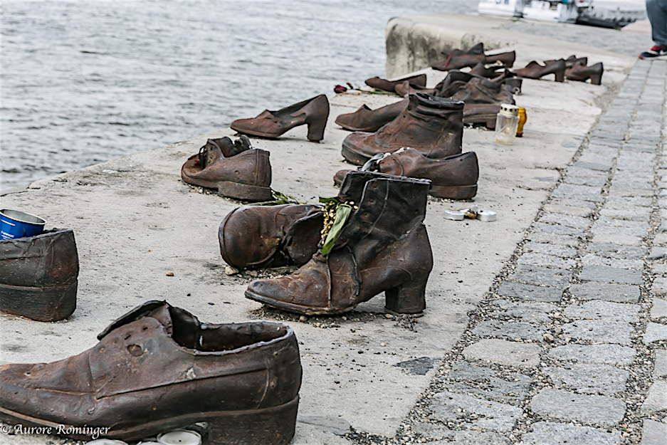 Bronx shoes, banks of the Danube