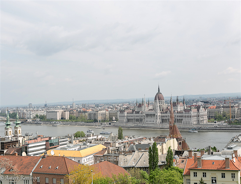 From the hills of Buda -gazing across the Danube to Pest
