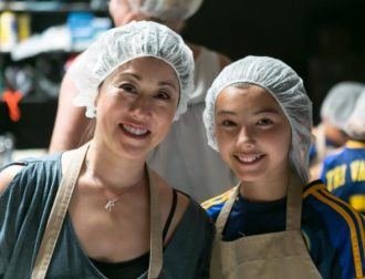 Tri Valley Soccer Club along with additional family members, lent their hands to complete the packaging of 6,264 meals!
