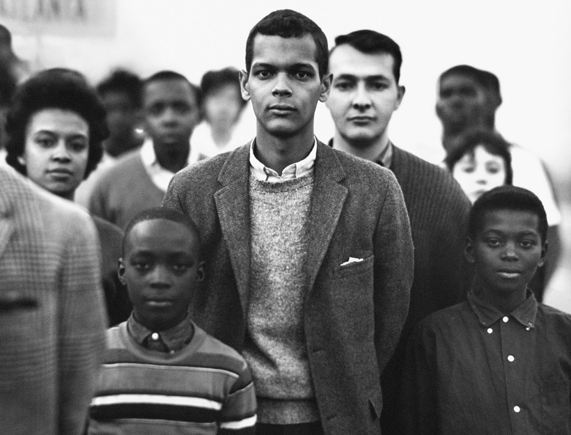 "Student Nonviolent Coordinating Committee Headed by Julian Bond, Atlanta, Georgia"" by Richard Avedon"