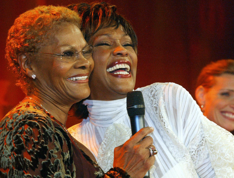 Dionne Warwick and Whitney Houston