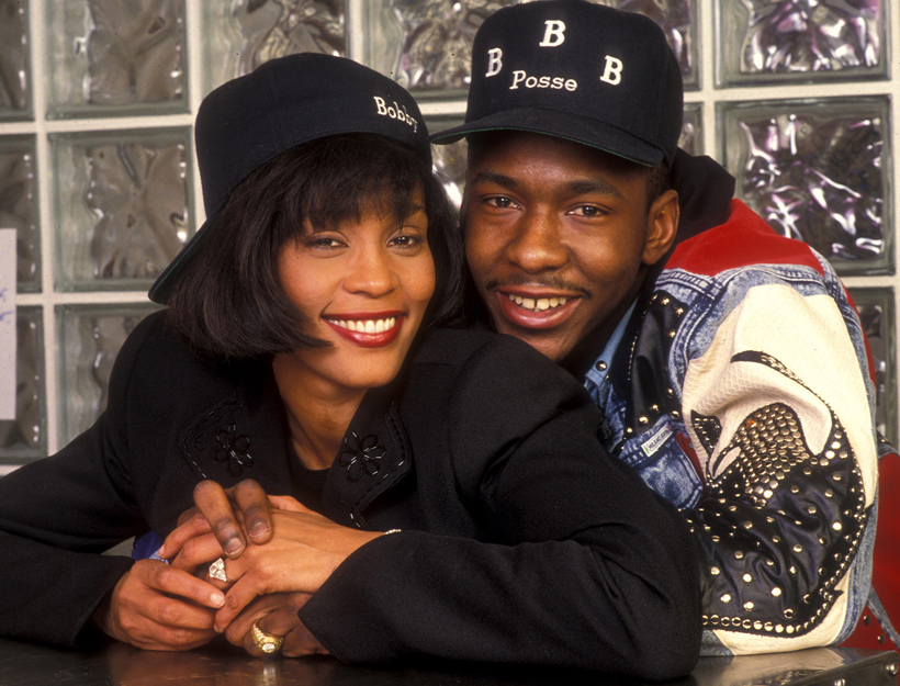 Young Whitney Houston and Bobby Brown
