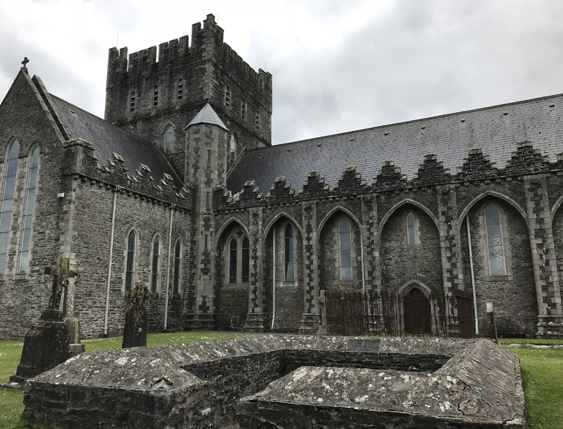 Kildare Cathedral and Brigid's Flame Enclosure