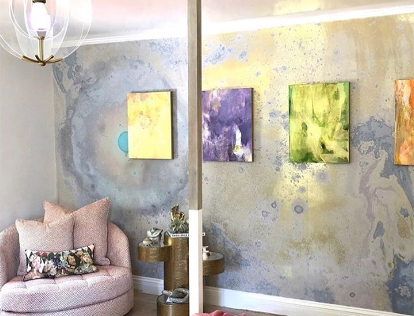 Artist Kari Kroll @ the Pasadena Showcase House of Design 2019