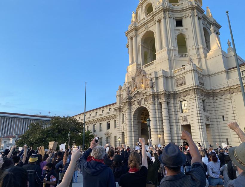 Pasadena City Hall Protest Vigil, 5.31.20