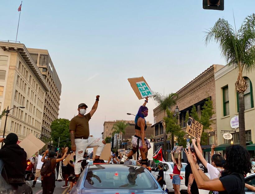 Anthony McClain Protest, Pasadena, CA. 8.19.20