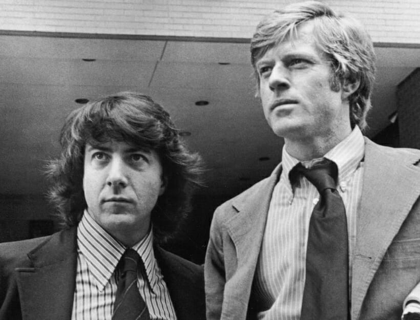 All the Presidents Men: Dustin Hoffman and Robert Redford