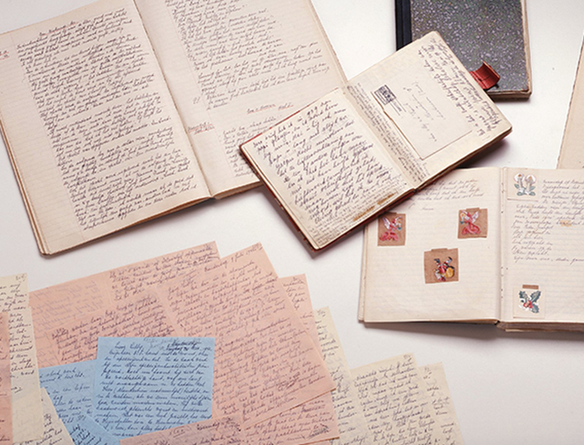 Anne Frank's Original Diaries and Short Stories