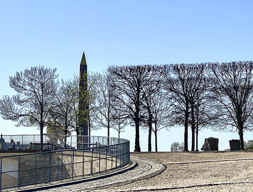 Trees trimmed for space to renew growth, vue of Place de Concord, from Jardin des Tuileries